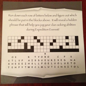 2013 Expedition Everest Challenge practice card